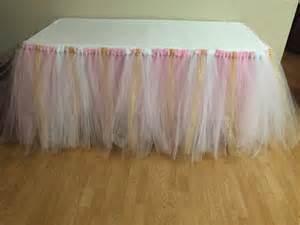pink gold white tutu table skirt