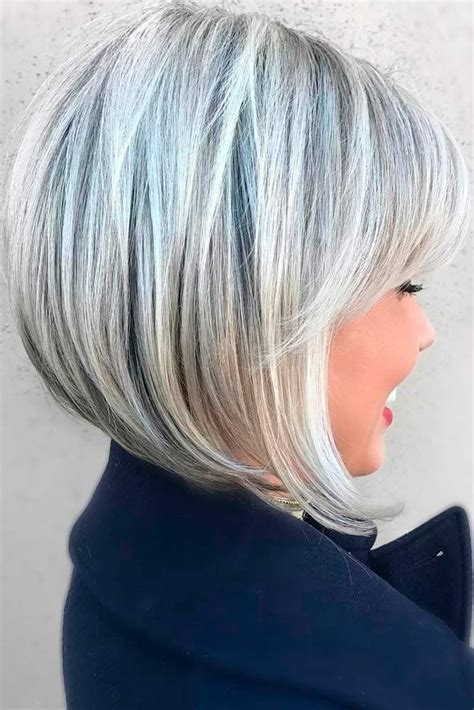 layered hairstyles for gray thinning hair 25 best ideas about bob haircut bangs on pinterest