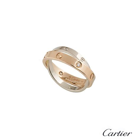 cartier white gold ring b4094354 rich