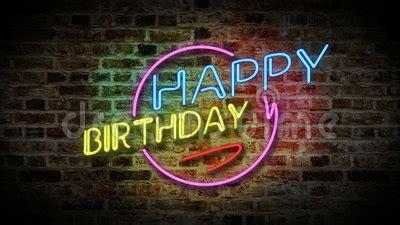 happy birthday neon light stock video video  happy