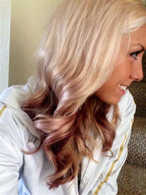 blonde and burgundy hairstyles best 25 burgundy blonde hair ideas on pinterest fall