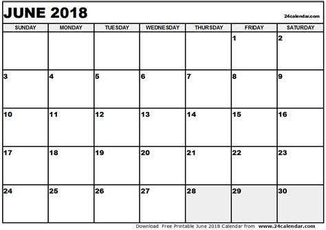 Calendar December 2017 To June 2018 June 2018 Calendar Calendar Printable Free