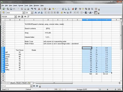 tutorial vlookup excel 25 libre office calc open office calc excel