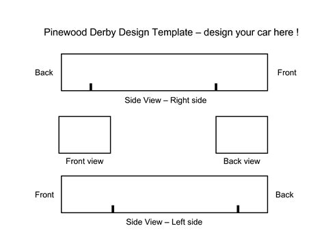 pinewood derby race car templates best photos of pinewood derby car templates printable