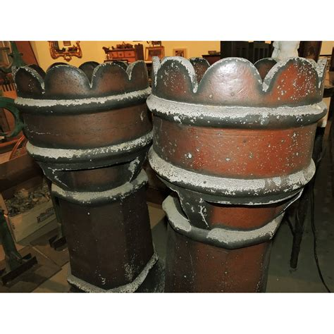 l chimneys for sale pair of 19th century terracotta chimneys great