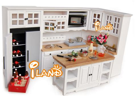miniature dollhouse kitchen furniture iland white 1 12 dollhouse miniature diy furniture wood