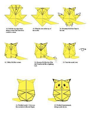 how to make an origami pikachu step by step pikachu origami origami pikachu and tutorials