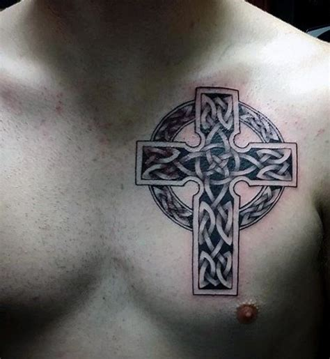 cross tattoos on chest for men 40 celtic tattoos for cool knots and complex