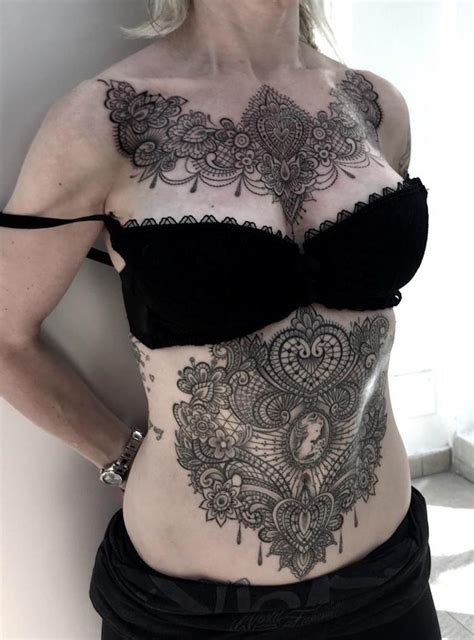 victorian lace tattoo lace designs perfectly cloak the in delicate