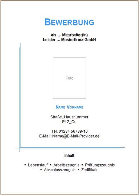 Bewerbung Deckblatt Word Kostenlos Bewerbung Deckblatt Vorlagen Und Muster