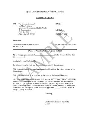Official Bank Letter Bank Of America official letter for bank fill printable