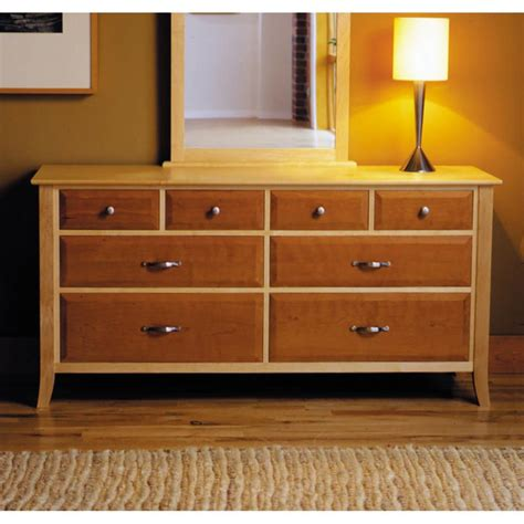 cherry chest of drawers plans maple cherry eight drawer dresser woodworking plan from