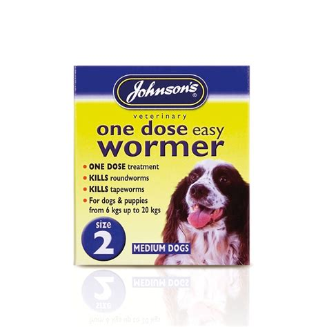 wormer for puppies johnsons one dose easy wormer for puppies dogs size 2 feedem