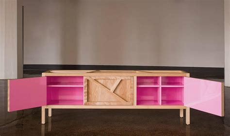 sideboard pink inside out sideboard cabinet largo lacquer pink