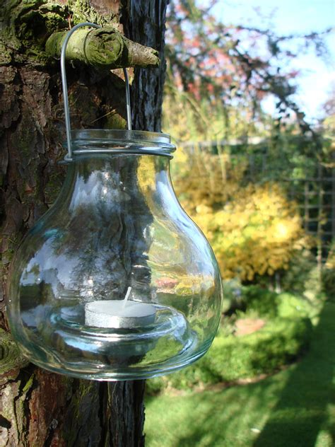 recycled glass recycled glass hanging tealight lantern simplicity