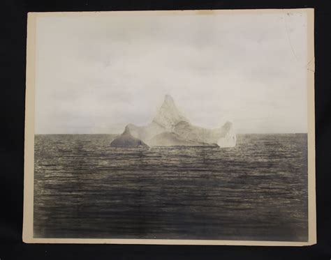 imagenes reales del titanic undido photo of iceberg that sank titanic for sale is it real
