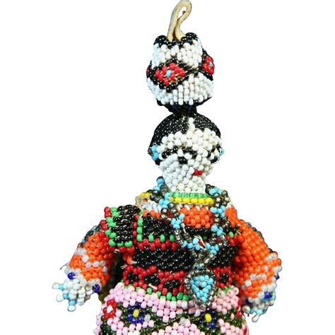 american zuni beaded doll from rubylane sold on