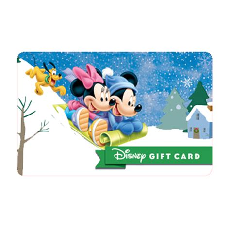 Disney Store Gift Card - your wdw store disney collectible gift card mickey minnie sledding