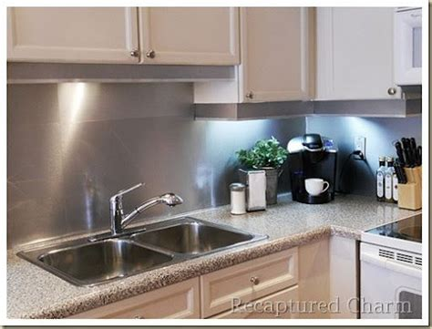 aluminum kitchen backsplash diy metal backsplash i made the backsplash out of