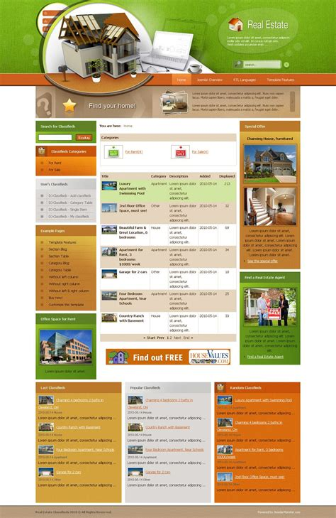 joomla classifieds template jm real estate classifieds joomla template joomla