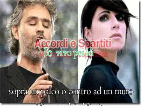 bocelli vivo per testo andrea bocelli feat giorgia vivo per karaoke