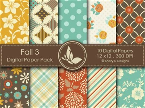 fall  digital paper pack meylah