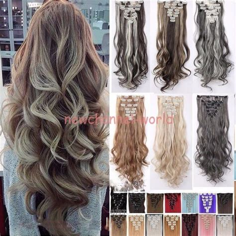 real human hair extensions 100 real natural as human hair 8pcs full head clip in