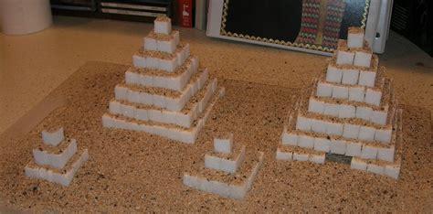 How To Make A Paper Mache Pyramid - sugar cube pyramids susan s homeschool susan s