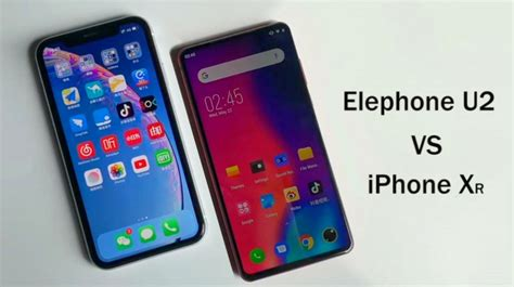 elephone u2 shows its against iphone xr in this gizmochina