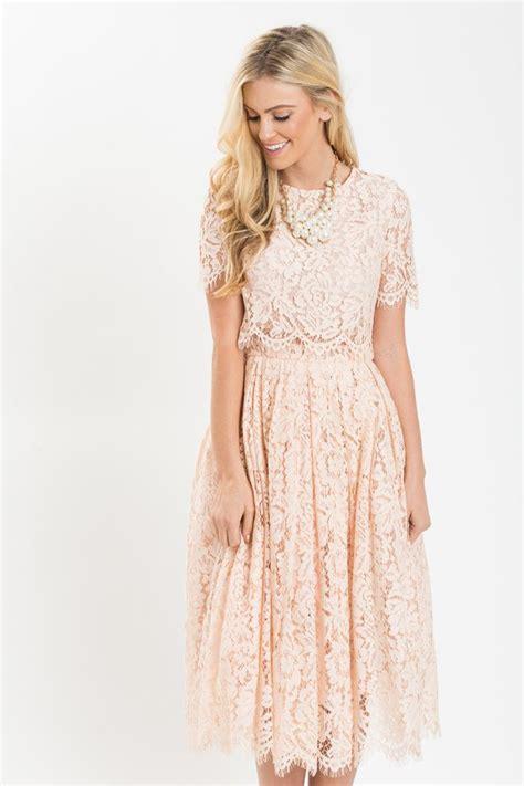 Lace Midi Cocktail Dress best 25 blush pink dresses ideas on pink