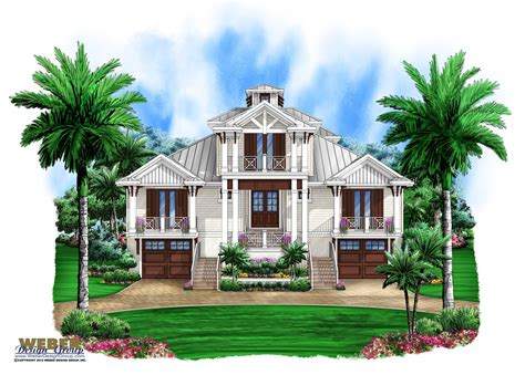 florida beach house plans marsh harbour olde florida house plan weber design group