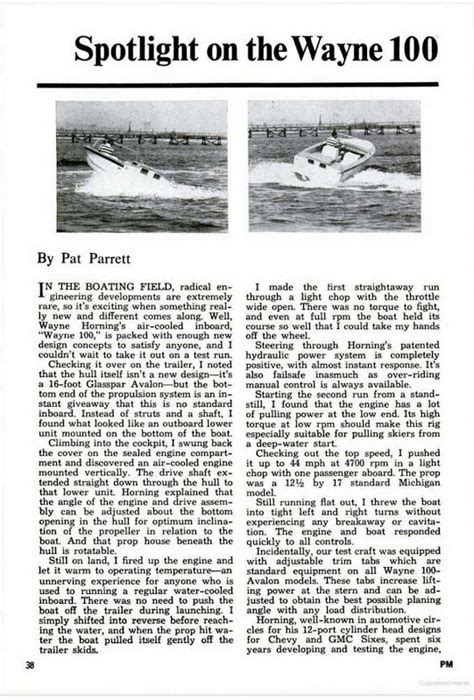 boat engine questions boats with wayne 100 corvair engines question