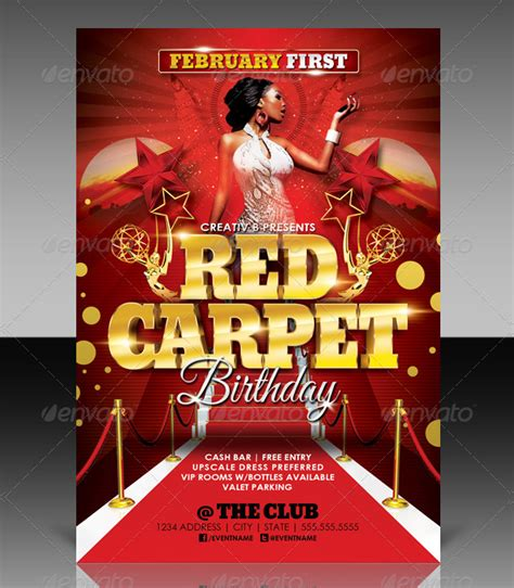flyer template red 17 red carpet flyer templates free premium download