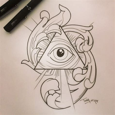 all seeing eye tattoo design 10 pyramid designs and ideas