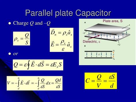 parallel plate capacitor and capacitance ppt electrostatic boundary value problems powerpoint presentation id 2148831