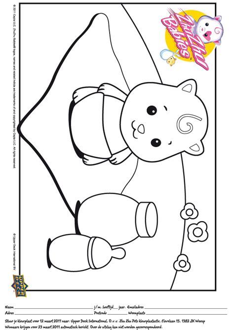 coloring pages zuzu pets kleurwedstrijd zhu zhu pets nr 2