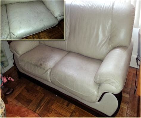 oil stain on leather couch damaged fabric repair services before and after images