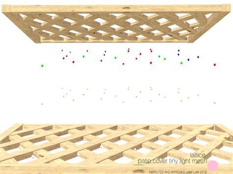 dot s lattice patio cover tiny light mesh