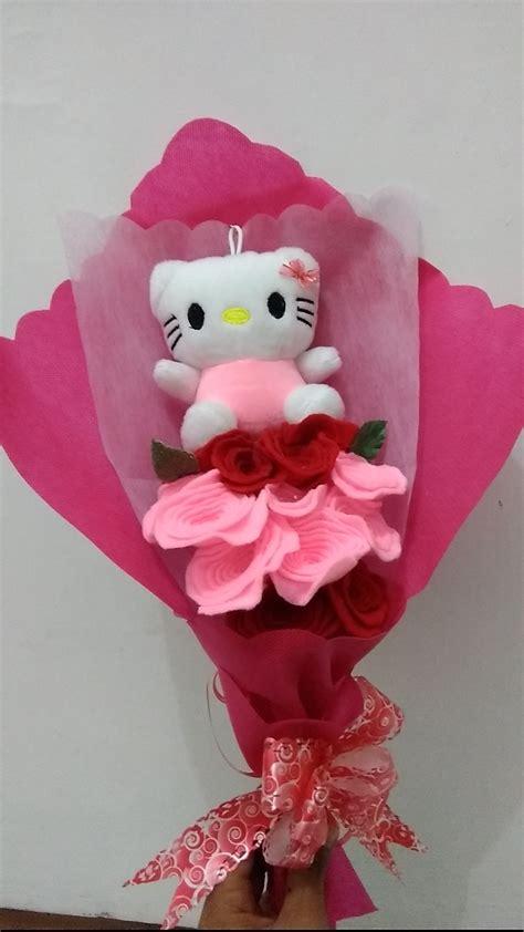 Boneka Wisuda Hello jual buket boneka wisuda hello buket bunga flanel