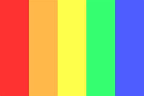 rainbow color palette rainbow without purple color palette
