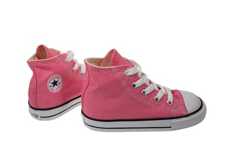 infants sneakers converse hi toddler infant pink canvas trainers