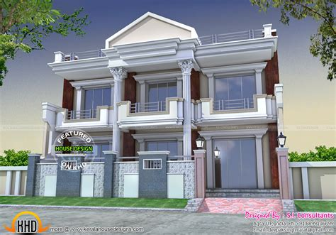 front pillar home design kerala home design