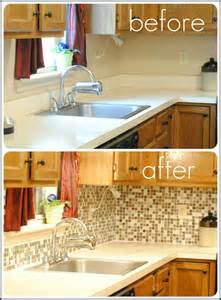 Peel And Stick Kitchen Backsplash Remove Laminate Counter Backsplash And Replace With Tile