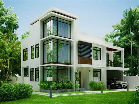 two storey house design with terrace photo modern house
