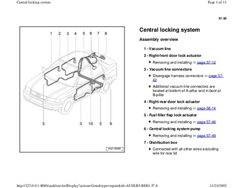 audi a4 central locking wiring diagram gallery wiring