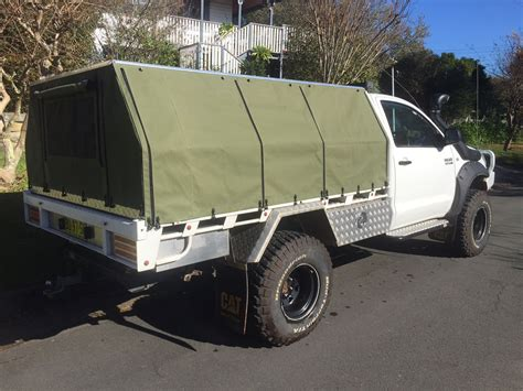 canvas canopy awning hard top canvas ute canopies covers wallaby track canvas