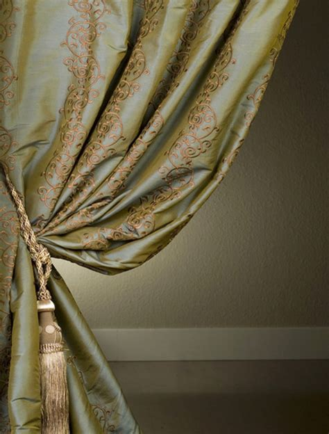 silk drape borrache silk curtain traditional curtains san