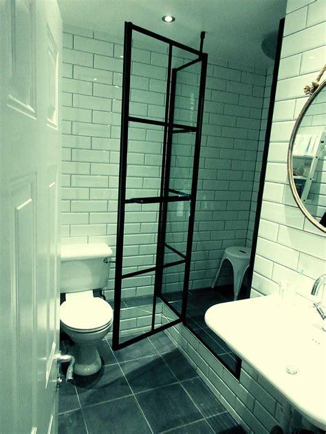 Grid Shower by Designer Black Grid Shower Screens From Room H2o