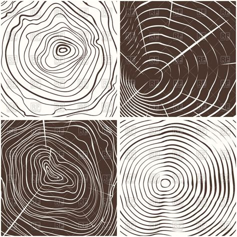 pattern vector illustrator wood wood rings texture or tree rings royalty free vector clip