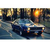 Sunset Sunrise Trees Ford Roads Mustang Driving